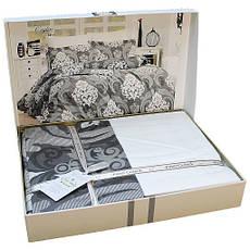 Комплект постельного белья First Choice Satin Ceylin Kahve 160х220х2 Семейный, фото 2