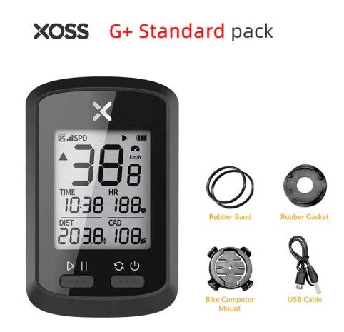 Велокомп'ютер XOSS G+ Wireless GPS Bluetooth ANT+ з підтримкою Strava