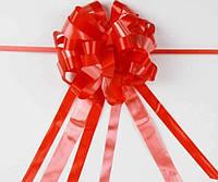 Бант-затяжка (ш. ленты 5,5 см, д. 23 см) красный для упаковки подарков полипропилен