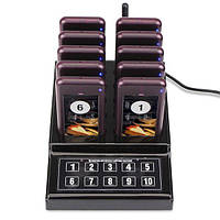 Беспроводная система оповещения и вызова клиентов Retekess F4529 с 10 пейджерами 100066, КОД: 1439062