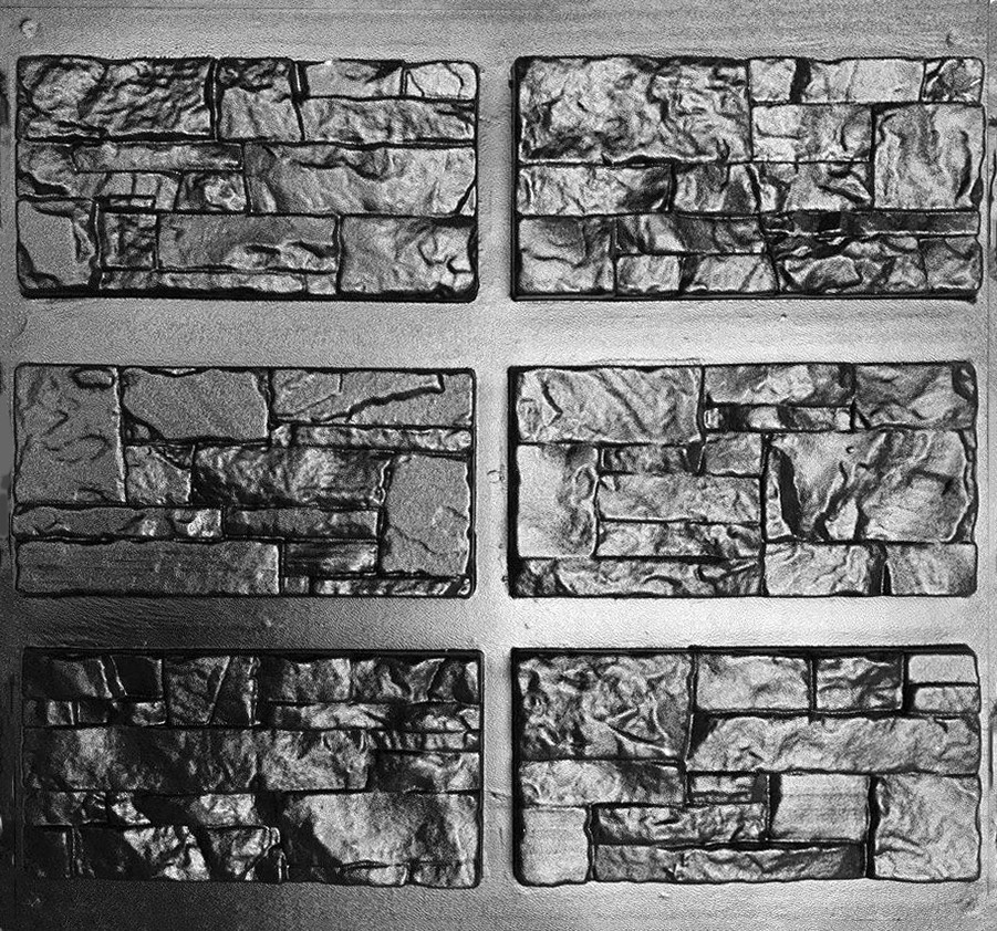 КВАРЦИТ - комплект форм для искусственного камня; в 1 м²- 32 шт; в комплекте 0,56 м²