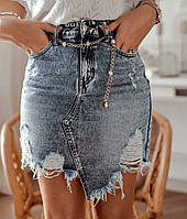Джинсовая юбка ,стильная летняя юбка