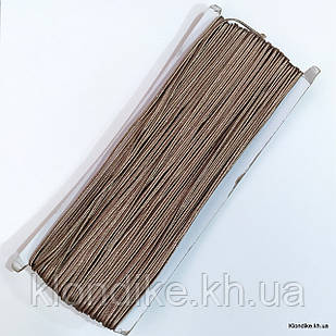 Шнур сутажный, плоский, ширина: 3 мм, Цвет: Коричневый 1 (5 метров)