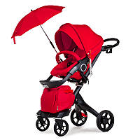 Универсальная коляска 2в1 DSLAND V8 Black-Red Красный DSV8BR, КОД: 1286881