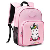 2 в 1 детский рюкзак Mommore UNICORN и сумка для завтраков Розовый 0240012A012, КОД: 721473