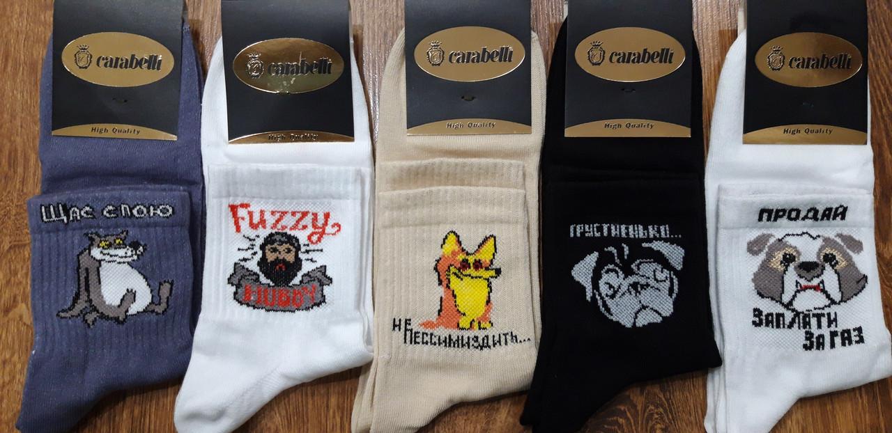 """Чоловічі шкарпетки""""Carabelli"""" Туреччина ,100% бавовна Приколи 42-44"""