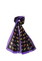 Женский шарф Moschino 3317 Черно-фиолетовый 2900056541015, КОД: 1452759