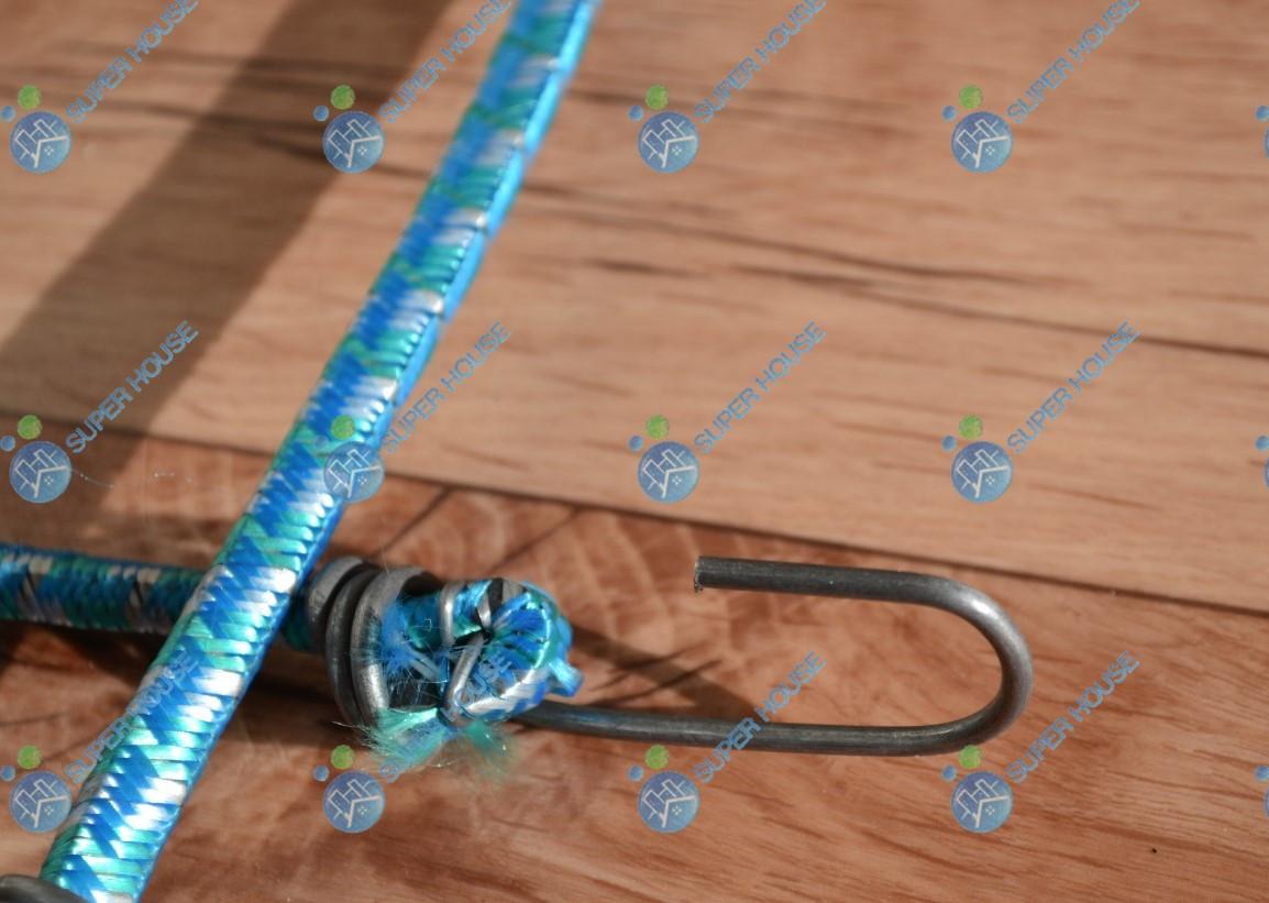 Резинка для тачек, багажная с крючками 1.0 м