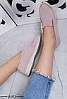 Женские пудровые туфли, из натуральной замши 36 ПОСЛЕДНИЕ РАЗМЕРЫ, фото 3
