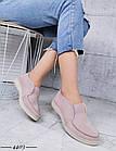 Женские пудровые туфли, из натуральной замши 36 ПОСЛЕДНИЕ РАЗМЕРЫ, фото 4