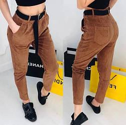 Стильные вельветовые женские брюки