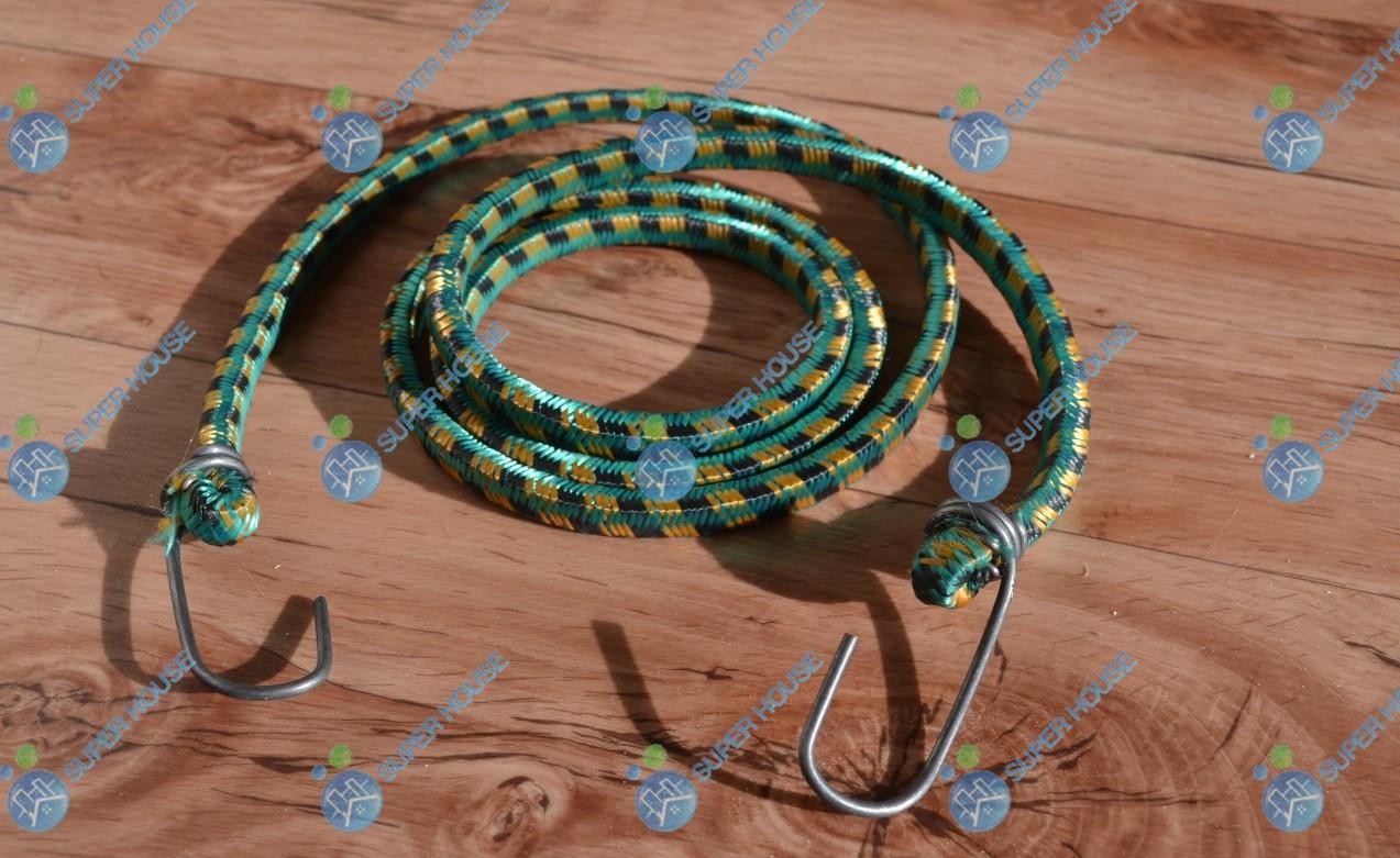 Резинка для тачек, багажная с крючками 1.5 м