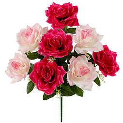 Букет куст розы крупный, 55см  (6 шт. в уп.)