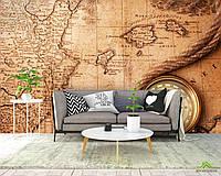 Фотообои Компас и карта мира