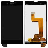 Дисплейный модуль (дисплей + сенсор) для Sony Xperia T3 D5102 / D5103 / D5106, черный, оригинал