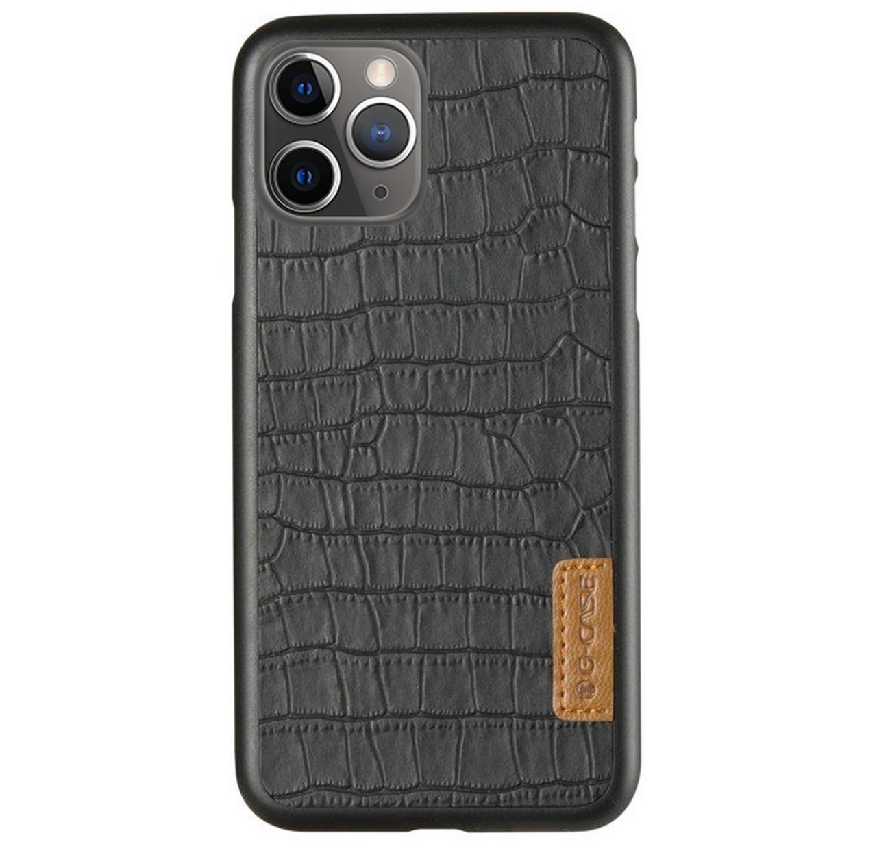 Кожаная накладка G-Case Crocodile Dark Series для IPhone 11 Pro Black