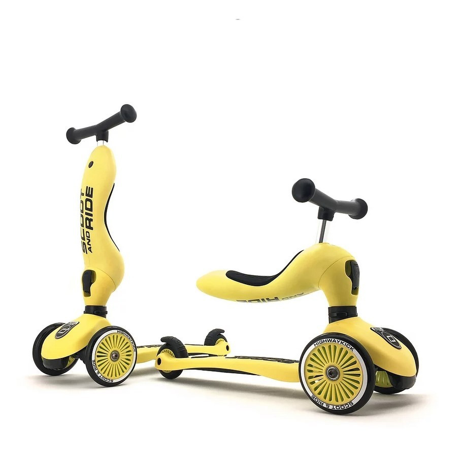 Scoot&Ride - Самокат-беговел серии Highway kick-1 от 1 до 5 лет, цвет лимон