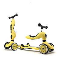 Scoot&Ride - Самокат-беговел серии Highway kick-1 от 1 до 5 лет, цвет лимон, фото 1