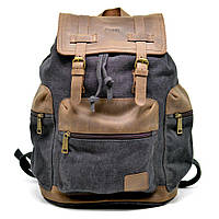 TARWA 0010 - городской рюкзак из лошадиной кожи и парусины