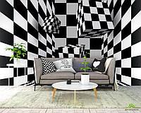 3д фотообои Черно-белая абстракция
