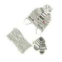 Шапка снуд перчатки Suve  6 мес - 2 года Чёрно-белый TUR 007 star white-black, КОД: 1469453