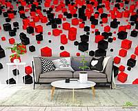 3д фотообои Черние и красные кубы