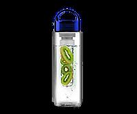 Бутылка для воды фруктов и чая Fruit Juice BPA free 700 мл Синий hubber-206-37, КОД: 1160129