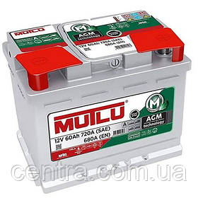 Автомобильный аккумулятор MUTLU 6СТ-60 AGM.L2.60.068.A
