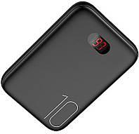 УМБ Usams US-CD66 Dual USB Mini Digital Power Bank 10000 mAh Black 80117, КОД: 1174549
