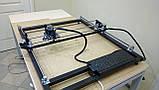 Лазерний гравер з ЧПУ, лазерний верстат, гравірувальний верстат 7 Вт, поле 65*65 см, фото 2