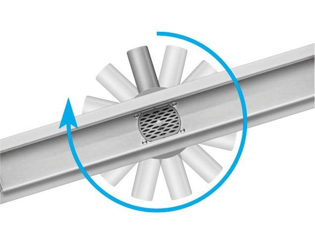 Трап для душа с поворотным сифоном Fala Rotary 500 мм из нержавеющей стали