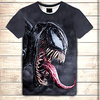 Футболка з 3D принтом Venom Scream. Дорослі і дитячі розміри, фото 1