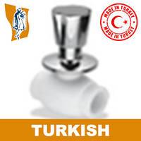 Вентиль радиаторный прямой хром Turkish Ø 20-1/2`