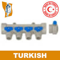 Коллектор с краном маевского ppr Turkish Ø 1`2