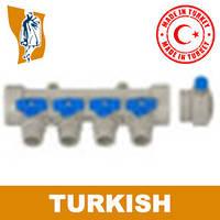 Коллектор с краном маевского ppr Turkish Ø 1`5