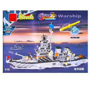 Конструктор типа Лего BRICK 112 корабль