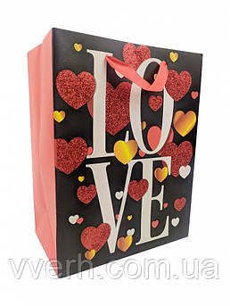 """Подарунковий пакет 212S """"LOVE"""" (212S-1)"""