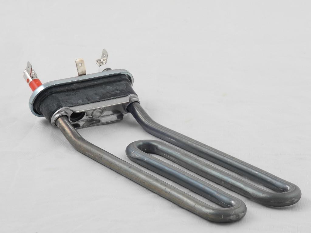 Тэн для стиральных машин Ariston/Indesit 1800W L=190 мм. гнутый с отв. (Thermowatt) (C00088399)
