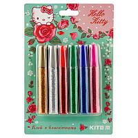 Клей Kite Hello Kitty, з блискітками, 6 кольорів, 10 мл (HK19-107)