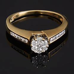 Женское кольцо из желтого золота с бриллиантами С40Л1№12