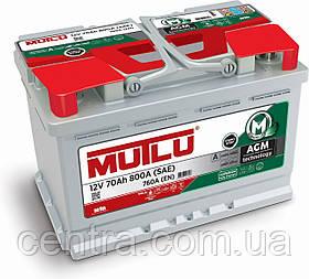 Автомобильный аккумулятор MUTLU 6СТ-70 AGM.L3.70.076.A