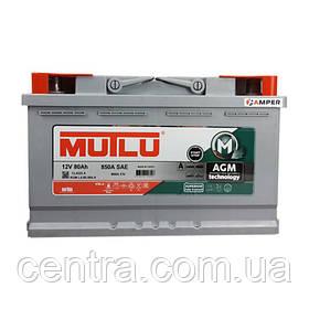 Автомобильный аккумулятор MUTLU 6СТ-80 AGM.L4.80.080.A