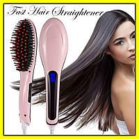 Электрическая расческа выпрямитель FAST HAIR STRAIGHTENER HQT-906 | выпрямитель | укладка для волос