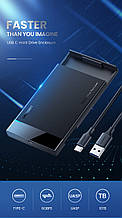 Ugreen HDD корпус 2,5 SATA USB 3,0 Tape C 3.1 Gen 2 кишеню адаптер для жорсткого диска SSD HDD 10 ТБ 6Gb
