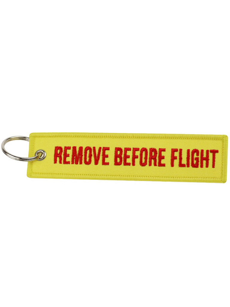 Брелок бирка Remove Before Flight Желтый
