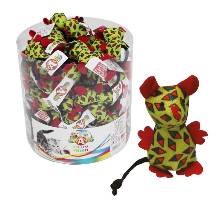 Игрушка для котов CROCI. Мышь Арлекино 7,5 см
