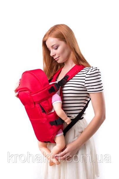 Рюкзак-кенгуру Умка 8 типа Rain с капюшоном от 2-х месяц / сумка-кенгуру / слинг / сумка-переноска для ребенка