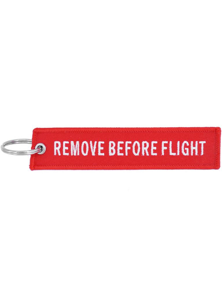 Брелок бирка Remove Before Flight Червоний