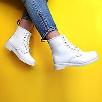 "Ботинки женские демисезон Dr. Martens ""Белые""  размер 36-41, фото 1"