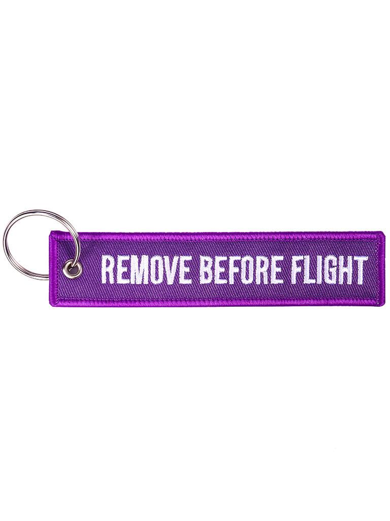 Брелок бирка Remove Before Flight Фиолетовый